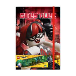 Блокнот с резинкой Lego Batgirl and Harley Quinn, 96 листов в линейку