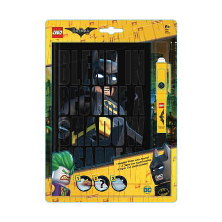 Канцелярский набор Lego Batman Movie, блокнот и ручка с фонариком