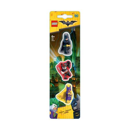 Набор ластиков Lego Batman, Batgirl, Harley Quinn