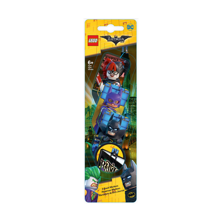 Набор 3D закладок Lego Batman, Batgirl, Harley Quinn