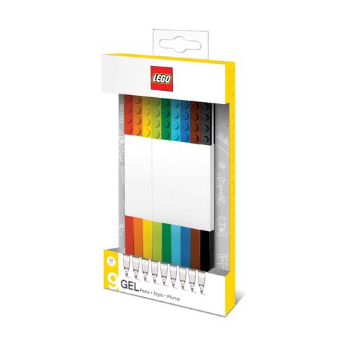 Набор цветных гелевых ручек Lego, 9 шт.