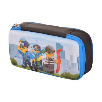 Пенал-кейс Lego City Police Chopper, с наполнением
