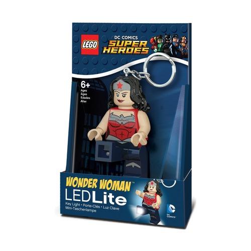 Брелок-фонарик Lego Super Heroes Wonderwoman, в сером