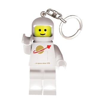 Брелок-фонарик Lego Classic Spaceman, белый