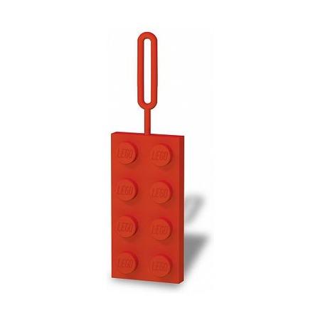 Бирка на ранец Lego, красная