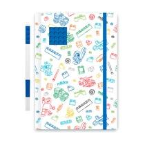Блокнот Lego с синей гелевой ручкой, сине-белый
