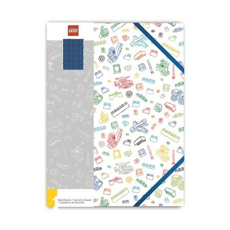 Альбом для рисования A4, 96 листов, белый с синим