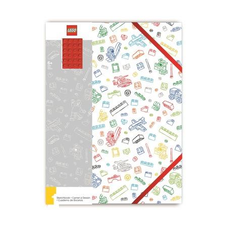 Альбом для рисования A4, 96 листов, белый с красным