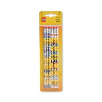 Набор карандашей с ластиком Lego Iconic, 6 шт.