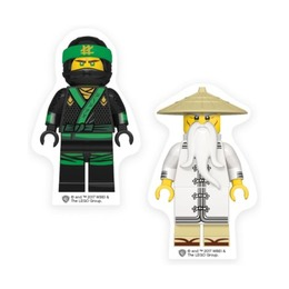 Набор ластиков Lego Ninjago Movie Lloyd и Wu