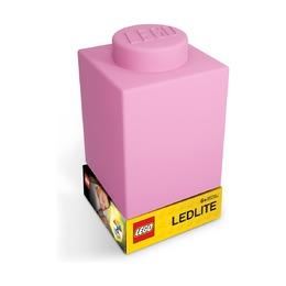 Фонарик силиконовый Lego, розовый