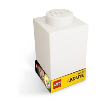Фонарик силиконовый Lego, белый
