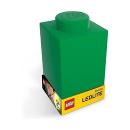 Фонарик силиконовый Lego, зеленый