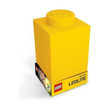 Фонарик силиконовый Lego, желтый