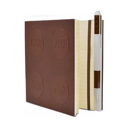 Книга для записей, с коричневой гелевой ручкой Lego Locking Notebook