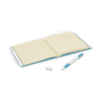 Книга для записей, с голубой гелевой ручкой Lego Locking Notebook