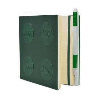 Книга для записей, с зеленой гелевой ручкой Lego Locking Notebook