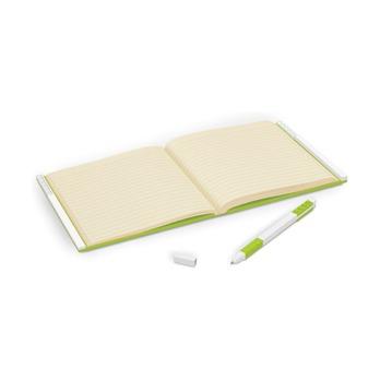 Книга для записей, с салатовой гелевой ручкой Lego Locking Notebook