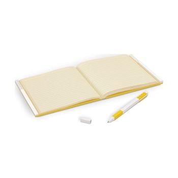 Книга для записей, с желтой гелевой ручкой Lego Locking Notebook