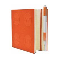 Книга для записей, с оранжевой гелевой ручкой Lego Locking Notebook