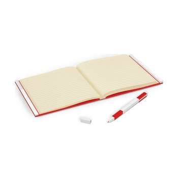 Книга для записей, с красной гелевой ручкой Lego Locking Notebook