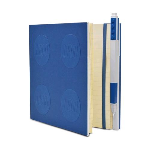 Книга для записей, с синей гелевой ручкой Lego Locking Notebook
