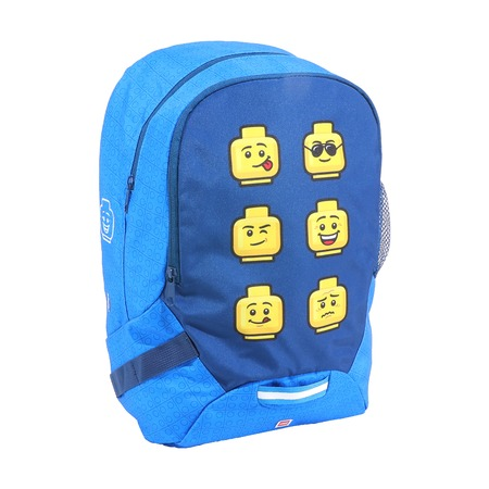 Рюкзак School Lego Faces Blue
