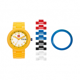 Часы наручные аналоговые Classic Yellow Adult Watch с календарем