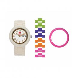 Часы наручные аналоговые Classic White/Gold Adult Watch с календарем