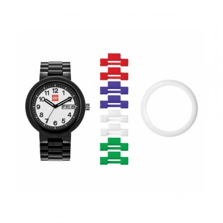 Часы наручные аналоговые Classic Black Adult Watch с календарем