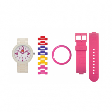 Часы наручные аналоговые Silhouette White/Pink Adult Watch с календарем