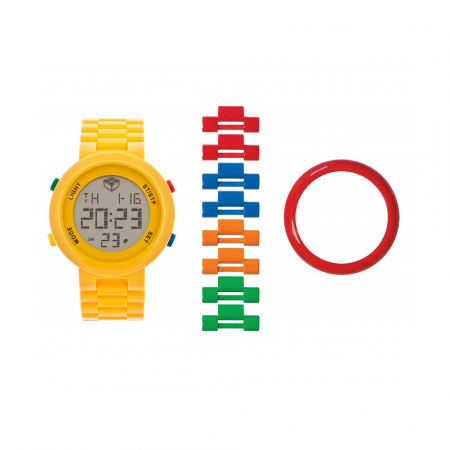 Часы наручные электронные Digifigure Yellow Adult Watch с календарем