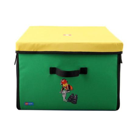 Коробка с крышкой тестильная Lego City, большая