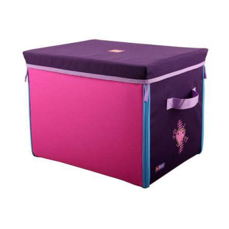 Коробка с крышкой тестильная Lego Friends, средняя
