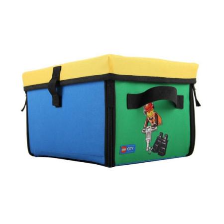 Коробка с крышкой тестильная Lego City, малая