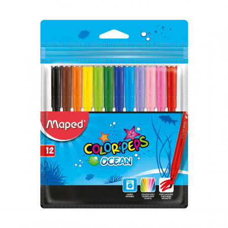 Набор фломастеров Colorpeps ocean, 12 шт